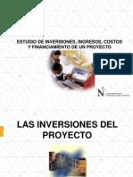 Inversiones, Ingresos y Financiamiento