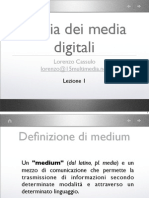 Storia Dei Media Digitali - Lezione 1 - Dalla Preistoria ai media di massa