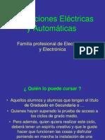 Presentacion de Instalaciones Electricas y Automaticas
