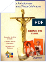 FILIPINO SAINTS FIESTA CELEBRATION 2014 Souvenir Program