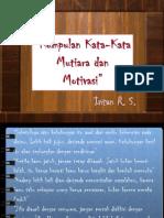 Kumpulan Kata Mutiara dan Motivasi