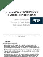 Aprendizaje Organizativo y Desarrollo Profesional Aurelio Villa