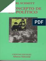 El Concepto de Lo Politico - Carl Schmitt -Ediciones