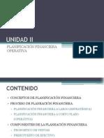 Unidad II - Planifiación Financiera Operativa