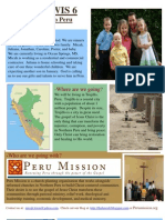 Peru Mission Newsletter #1revised