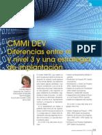 CMMI DEV.diferencias Entre El Nivel 2 y El Nivel 3, y Una Estrategia de Implantacion.2010