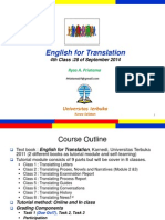English for Translation Class4 Module5 (20120930).ppt