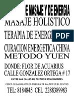 Terapia de Masage y Energia