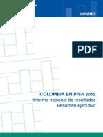 Resumen Ejecutivo Resultados Colombia en PISA 2012