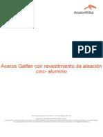 Acero Galfan Con Revestimiento de Aleacion Cinc Aluminio