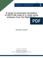 Matlab Code to C