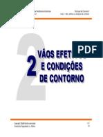 2 - Vãos Efetivos e Condições de Contorno