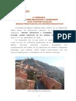 Conclusiones IV Seminario 'Valores educativos y ciudadanos en el entorno escolar'