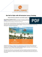 Set Sail in Style With All-Inclusive Luxury Cruising