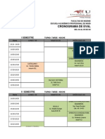 Cronograma Examenes 2013-II