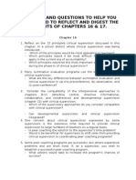 Some Tips and Questions to Help You as You Read to Reflect and Digest the Contents of Chapters 16