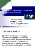 3. Managementul Proiectelor Informatice Complexe