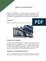 Manganese Ore Beneficiation Line