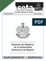 2012 Estatuto de Gobierno de La Universidad Autonoma de Nayarit-2004-Adicionado-7dic2009
