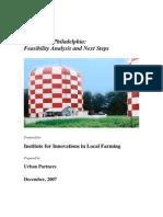 study Urban Farming in Philadelphia Study Dec2007