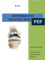 Informacion Protesis Rodilla (Sin RHB)