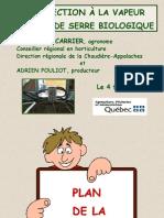 DÉSINFECTION VAPEUR POULIOT(ACARR) (03-02-04)