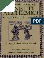 Santinelli, Sonetti Alchemici e Altri Scritti Inediti