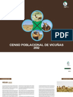 Censo Poblacional de Vicunas 2012