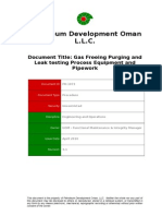 Gas Freeing, Purging and Leak Testing of Process Equipment (Excluding Tanks)