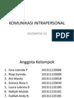 Komunikasi Intrapersonal Kelompok 10