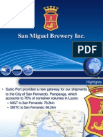 San Miguel Brewery presentation at the Northern Luzon Shipping Summit