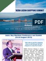 SBMA Chairman Roberto Garcia's Northern Luzon Shipping Summit Final Presentation