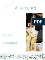 Loss of Hire Insurance 2009