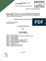 Proyecto de Ley Del Nuevo Codigo Penal 3491-2013-CR