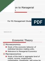 Foundation to Managerial Economics