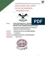 Metodologia de La Investigacion Poblacion