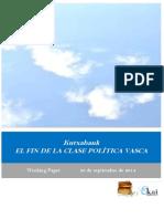 Kutxabank. EL FIN DE LA CLASE POLITICA VASCA