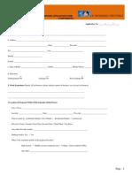 Franchise Application Form