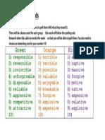 Y6 Ash Class Spellings