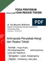 Artropoda Penyebab Alergi Dan Reaksi Toksik