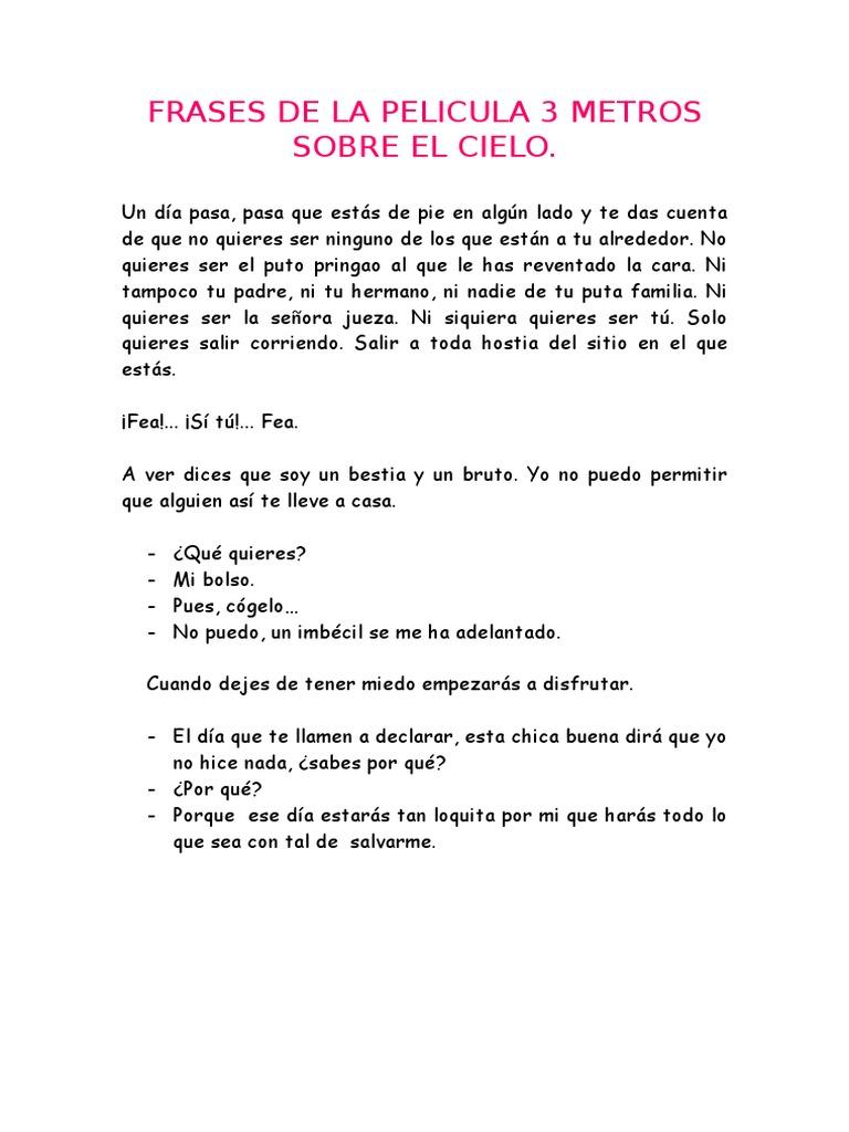 Frases De La Pelicula 3 Metros Sobre El Cielo Ocio