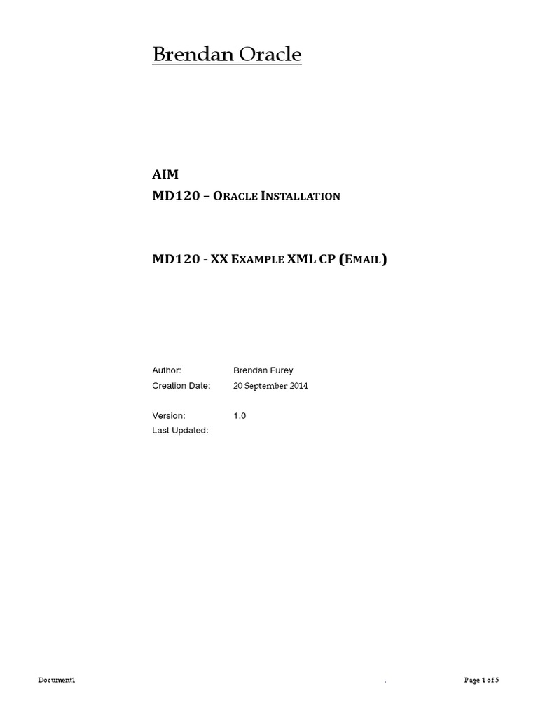 Md120 Xx Example Xml Cp Email Installation Computer Programs Oracle Wiring Instructions Database
