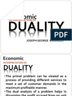 Economic in t Rep Duality