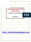 Data Communication & Networking MCQs for IBPS IT Specialist Officer