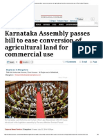 Karnataka Assembly Passes Bill to Ease Conversion of Agricultural Land for Commercial Use _ the Indian Express