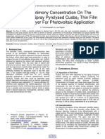 Effect of Antimony Concentration on the Properties of Spray Pyrolysed Cusbs2 Thin Film Absorbing Layer for Photovoltaic Application