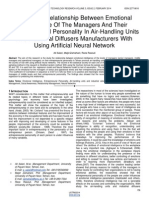 Study the Relationship Between Emotional Intelligence of the Managers and Their Entrepreneurial Personality in Air Handling Units and Industrial Diffusers Manufacturers With Using Artificial Neural Network