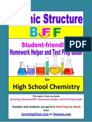 Atomic Structure BFF: Homework Helper and Test Prep Guide for HS