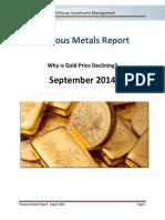 Lighthouse Precious Metals Report - 2014 - September