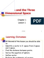 C1L1 Vectors and the Three Dimensional Space